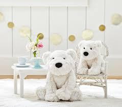faux fur polar bear plush pottery barn kids