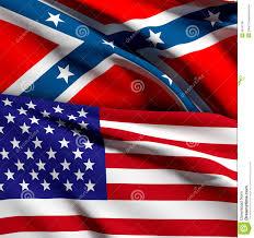 Confederate Flag And Union Flag Usa And Confederate Flag Stock Illustration Illustration Of