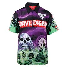 grave digger monster truck merchandise digger driver shirt