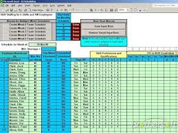 Excel Templates For Scheduling Employees by Free Schedule Daily Shifts Schedule