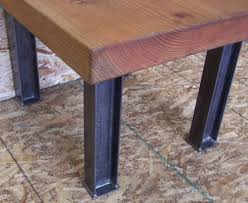 Kitchen Table Desk by Rustic Table Legs Rustic L Shaped Unfinish Wooden Desk With Steel