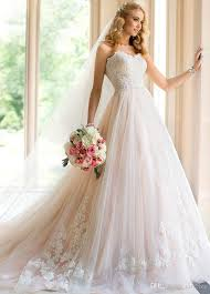 bridal gowns online discount sweetheart prince aline wedding dress online light blush