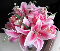 stargazer bouquet real touch fuchsia hot pink stargazer bouquet the best silk