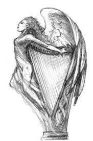 nice piece harp tattoo from matthew matsy dublinink tattoo