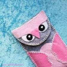 how to make a felt owl mobile phone case craftaholique