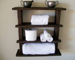 bathroom shelves etsy