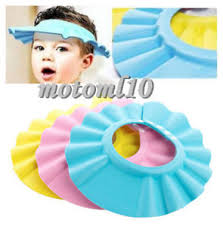 baby shower cap baby kids safe wash hair tool bath shower cap waterproof shield