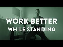 how to stand better at your standing desk youtube