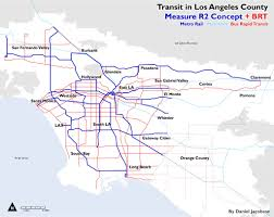 Metro La Map Guest Opinion The Future Of Los Angeles Is Bus Rapid Transit