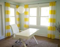 Yellow Stripe Curtains Beautiful Custom Made 44 X 84 Black And White Wide Stripe