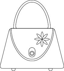 Dessin un sac à main  Doryfr coloriages