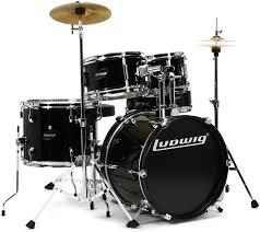 black friday drum set ludwig 5 piece junior drum set with cymbals u0026 hardware wine red