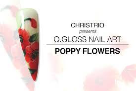 christrio poppy flowers nail art youtube