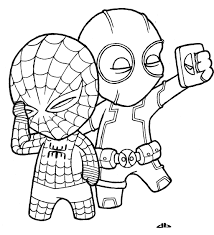 little deadpool and little spiderman by josh308 on deviantart