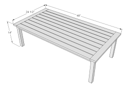 Ana White Simple White Outdoor Coffee Table Diy Projects