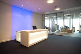 Illuminated Reception Desk 6109 0009 Velocity Commercial Interior Br Sheffield Six
