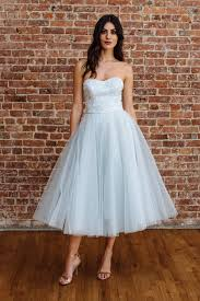 blue wedding dresses db studio by david s bridal mid length strapless light blue