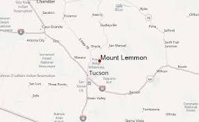 mt lemmon hiking trails map mount lemmon mountain information