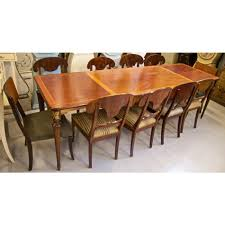 inlaid dining table and chairs antique swedish gustavian extendable dining tables