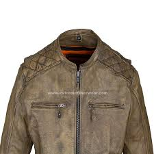 motorcycle biker jacket mens distressed brown leather motorcycle jacket with diamond