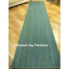 Turquoise Runner Rug Seagrass Jute Woven Turquoise Floor 3m Hall Runner Free Shipping