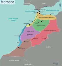 World Regions Map by Detailed Regions Map Of Morocco Morocco Africa Mapsland