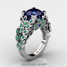 emerald engagements rings images Sapphire emerald rings images jpg