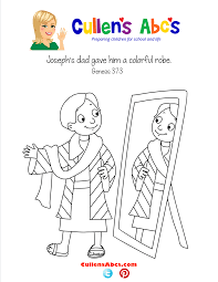 bible memory verse coloring page joseph u0027s colorful robe online