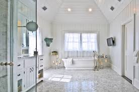 White On White Bathroom by All White Interior Design Mixed With Feng Shui