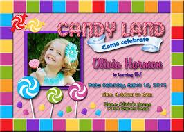 Birthday Invitations Card Candyland Birthday Invitations Kawaiitheo Com