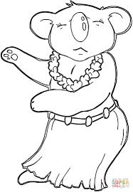 hawaiian koala coloring free printable coloring pages