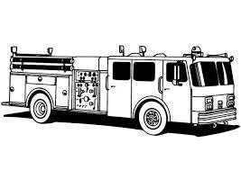 coloring beautiful fire truck coloring free media cute