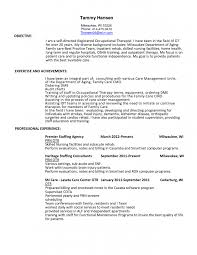 Sample Resume For Occupational Therapist by 14 Physical Therapy Assistant Resume Resume Entry Level Physical