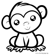 coloring pages surprising cute baby monkey coloring pages