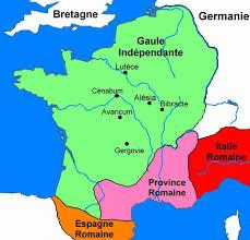 carte de la gaule pendant la guerre des gaules français