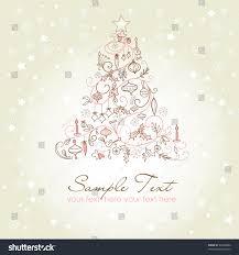 Beautiful Christmas Tree Illustration Christmas Card Stock Vector
