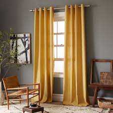 Mustard Colored Curtains Inspiration Lovely Yellow Cotton Curtains Inspiration With Linen Cotton