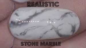 design fã r nã gel nail realistic black and white marble gel