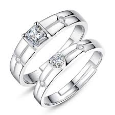square shaped rings images New men square diamond and woman heart shaped diamond 925 sterling jpg