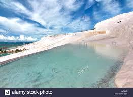 42154432 the beautiful pools in pamukkale turkey stock photo
