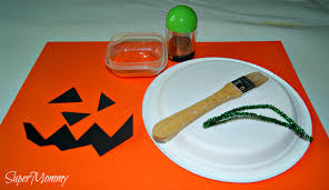 halloween paper plate crafts easy halloween kid u0027s pumpkin craft
