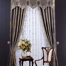 upscale drapes mural pattern luxury bedroom drapery window