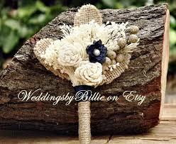 burlap boutonniere weddings bridal accessories navy ivory burlap boutonniere