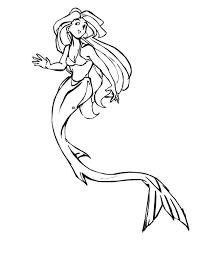 beautiful mermaid coloring pages beautiful fantasy mermaid coloring page coloring sky