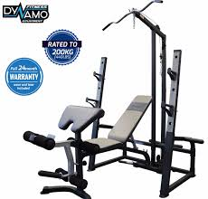 bench press u0026 squat rack lat pulldown row attachment fid bench