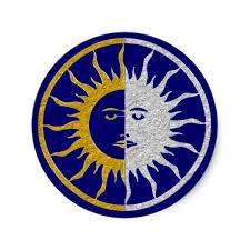 sun moon symbol gold silver sticker zazzle com