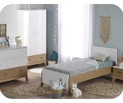 meubles chambre enfants enfant aloa blanche et bois set de 4 meubles