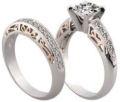 engagement and wedding ring set product detail