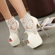 wedding shoes ankle white wedding shoes lace peep toe stiletto heels platform ankle