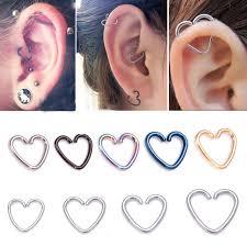 cartilage piercing earrings 5 pcs lot ear piercing tragus heart piercing earrings